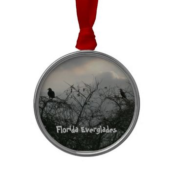 Birds in the Storm Christmas Tree Ornaments