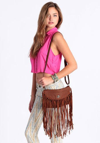 Wild West Fringe Purse - $38.00: ThreadSence, Women's Indie & Bohemian Clothing, Dresses, & Accessories