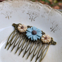 Daisy Hair Comb - Fall Colors