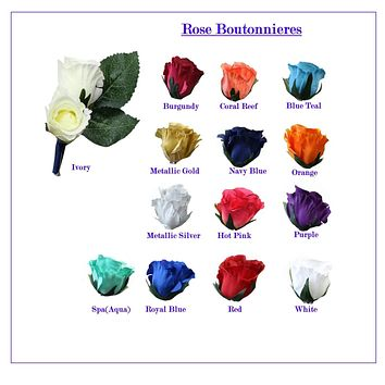 Double Rosebuds Boutonniere-Pin included