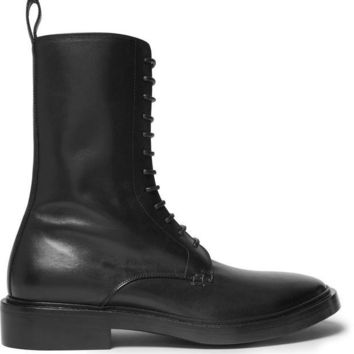 ONETOW balenciaga leather derby combat boots 2