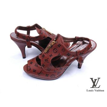 Louis Vuitton Women Heels Sandals Shoes-7