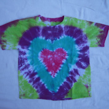 4-T toddler pink heart tie dye shirt