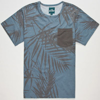 Elwood Svrf Shady Palms Mens Pocket Tee Blue  In Sizes