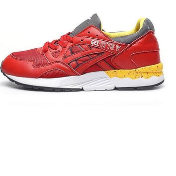asics gel lyte trending sneaker running shoes sports shoes hot red  number 1