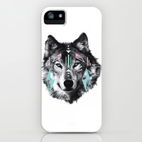 Wolf Warrior iPhone & iPod Case by gitanaoutfitters