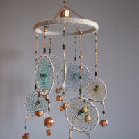 Dream Catcher Mobile with Copper Cubes