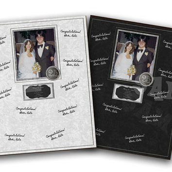 25th Wedding Anniversary Gift - Photo Signature Mat - Anniversary Party Guestbook - 25th Anniversary Party Print - Photo Gift