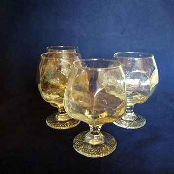Textured Brandy Snifters  S/4