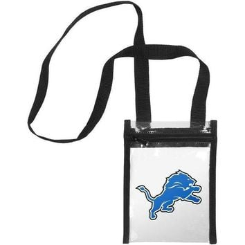DCCKG8Q NFL Detroit Lions Clear Crossbody Tote Bag
