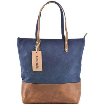 #41232 Waxed Canvas Tote Bag