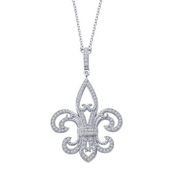Lafonn Rhonda Faber Green Sterling Silver Platinum Plated Lassire Simulated Diamond Necklace (0.97 CTTW)