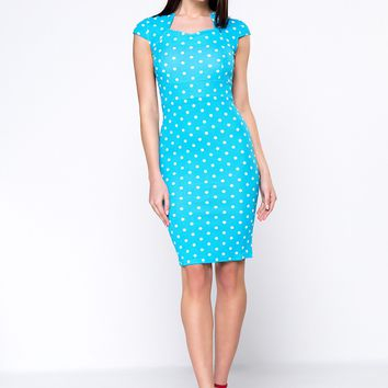 Streetstyle  Casual Vintage Polka Dot Bodycon Dress