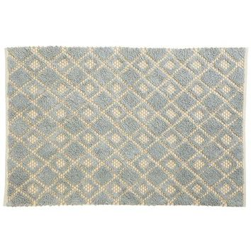 Diamond Jute Blue Rug