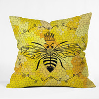 Lisa Argyropoulos Queen Bee Throw Pillow