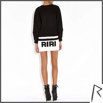 Black Rihanna G4LIFE sweat dress