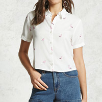 Flamingo Button-Down Shirt