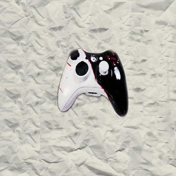 Bloody Ying Yang Custom Painted Xbox 360 Controllers