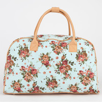Canvas Floral Duffle Bag Mint One Size For Women 20916552301