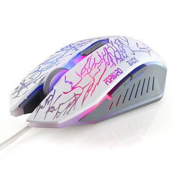 USB Mouse White Games Pc [6679289671]