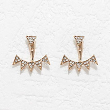 Triangle Rhinestone Ear Jackets