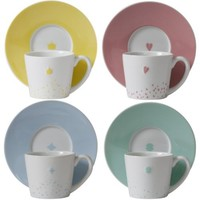Loveramics Fairy Tale Espresso Cup and Saucer, Set of 4