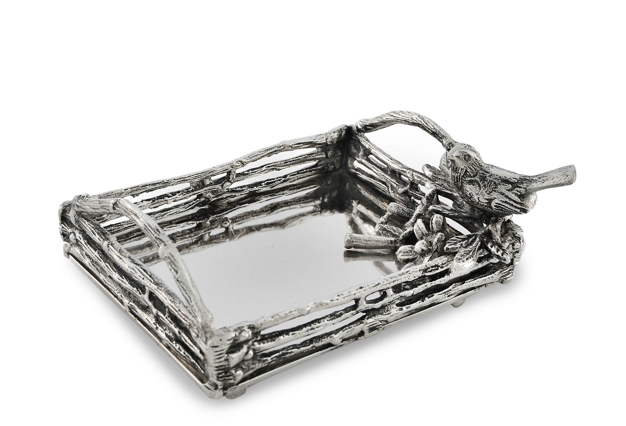 8 Quot Bird Amp Branches Tray Silver From One Kings Lane