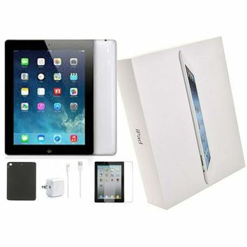 Open Box • Apple iPad 4th Generation • 16 GB Black • Bundle • WI-FI ONLY!