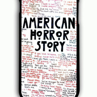 iPhone 6 Plus Case - Rubber (TPU) Cover with American Horror Story Quotes Rubber Case Design