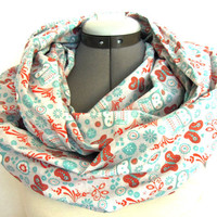 Infinity Scarf // Owl and Butterflies