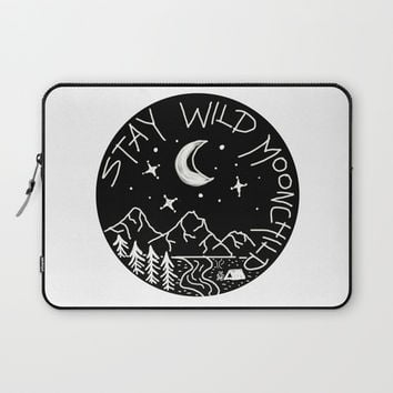 Stay Wild Moonchild Laptop Sleeve by Shashira Handmaker