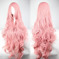 Pink Anime Wig Loose Wave Wig Curly Wig
