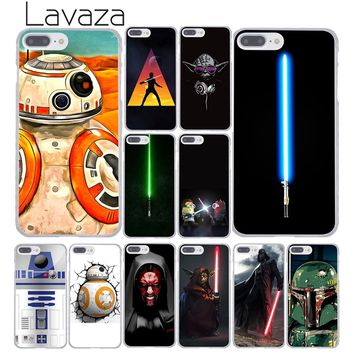 Lavaza 576F Lightsaber Star Wars Hard Coque Shell Phone Case for Apple iPhone 8 7 6 6S Plus X 10 5 5S SE 5C 4 4S Cover