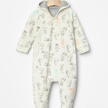 Gap Babygap + Peanuts Quilt Footed One Piece