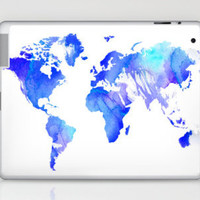 Watercolour World Laptop & iPad Skin by Ally Coxon | Society6