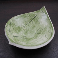 Rustic Nature Inspired Bowl, Ring Bowl, Trinket Bowl, Key Bowl, Leaf Print
