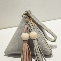 Casual Triangular Pyramid Tassel Hand Bag