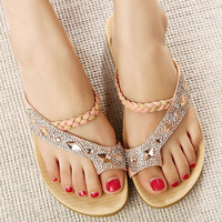 Fashion diamond beach sandals