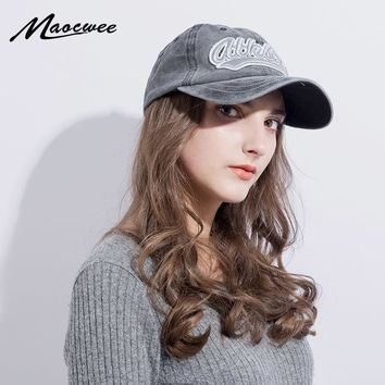 Trendy Winter Jacket Cotton Embroidery Letter Baseball Cap Snapback Caps Bone casquette Hat Distressed Wearing Fitted Hat For Men Woman Custom Hats AT_92_12