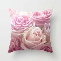 You Make Me Blush Throw Pillow by Lisa Argyropoulos | Society6