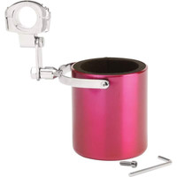 Diamond Plate Pink Stainless Steel Motorcycle Cup Holder