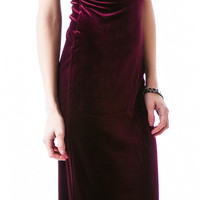MinkPink There She Goes Dress Maroon