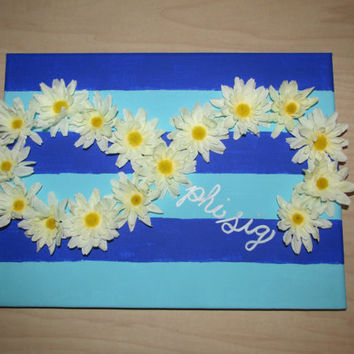 Customizable Sorority Flower Infinity Canvas