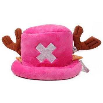 Pink Tony Tony Chopper One Piece Anime Plush Hat