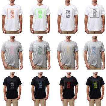 """Funny Quote"""" A Balance Diet Means…"""" Vynil Print Color Round Neck T-shirt MTS_03"""