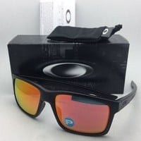 Polarized OAKLEY Sunglasses MAINLINK OO9264-07 Matte Black Frame w/ Ruby Iridium