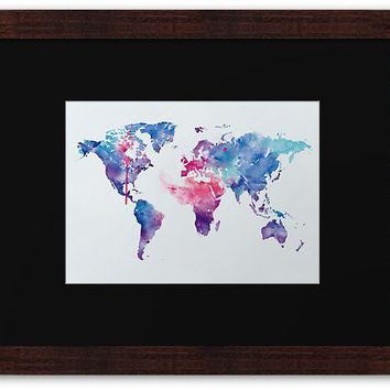'Map of the World' Framed Print by MonnPrint