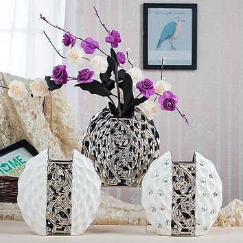 High quarity European Modern Fashion Ceramic Flower Vase fashion home wedding decoration