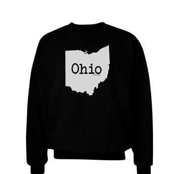Ohio - United States Shape Adult Dark Sweatshirt by TooLoud