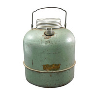 1950's Green Metal Jug Water Cooler, Farmhouse Style, Glamper Decor,  Retro Picnic, Vintage Camping, Vagabond, Hemp & Co, Glamp, Thermos